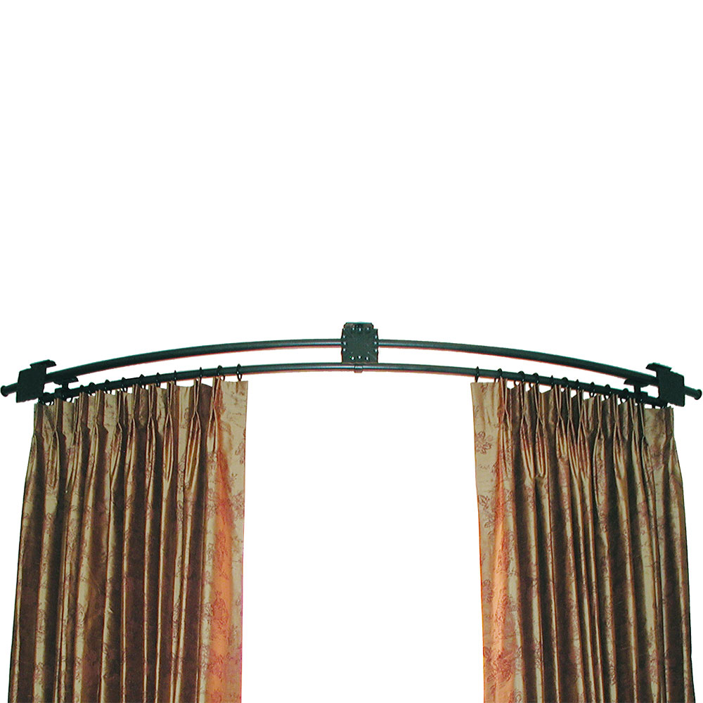 Bendable curtain rods