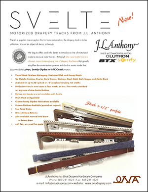 JL Anthony Svelte 2016 catalog cover