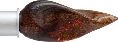 Amber Flame ArtGlass finial