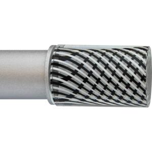 Black Swirl Cylinder ArtGlass finial