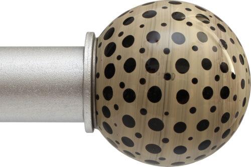 Cheetah Ball ArtGlass finial
