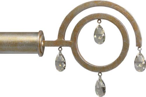 Coba crystal drop finial
