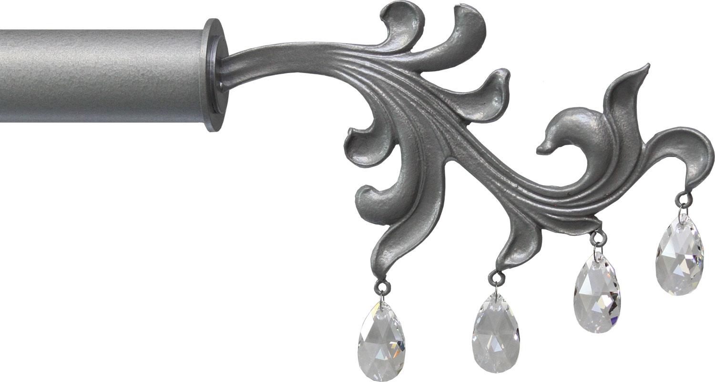 Crystal Dragon Leaf crystal drop finial