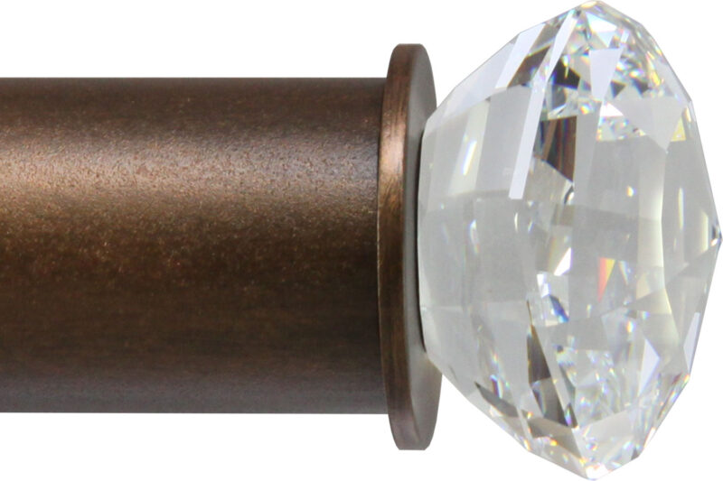 Crystal Strato-Sphere finial for large rods