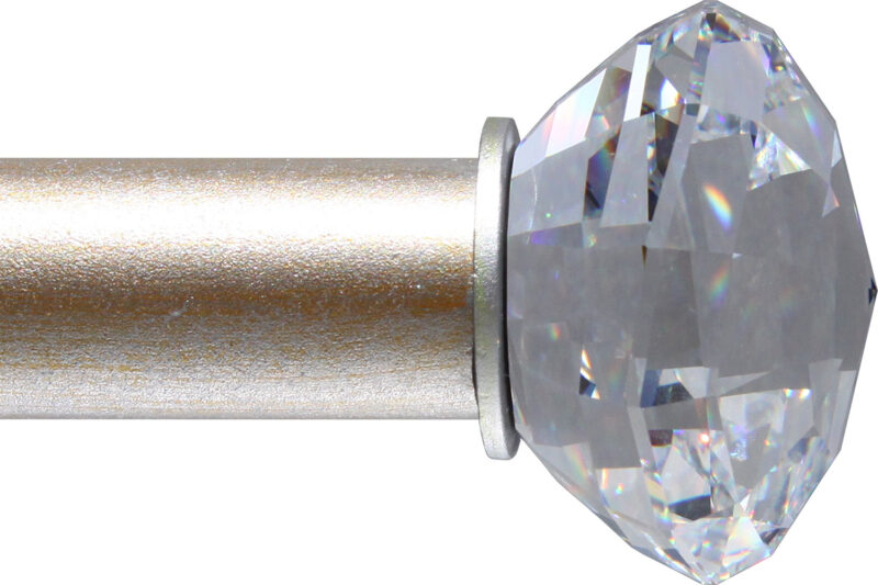 Crystal Strato-Sphere finial for small rods