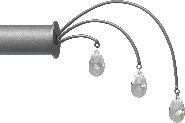 Fountain crystal drop finial