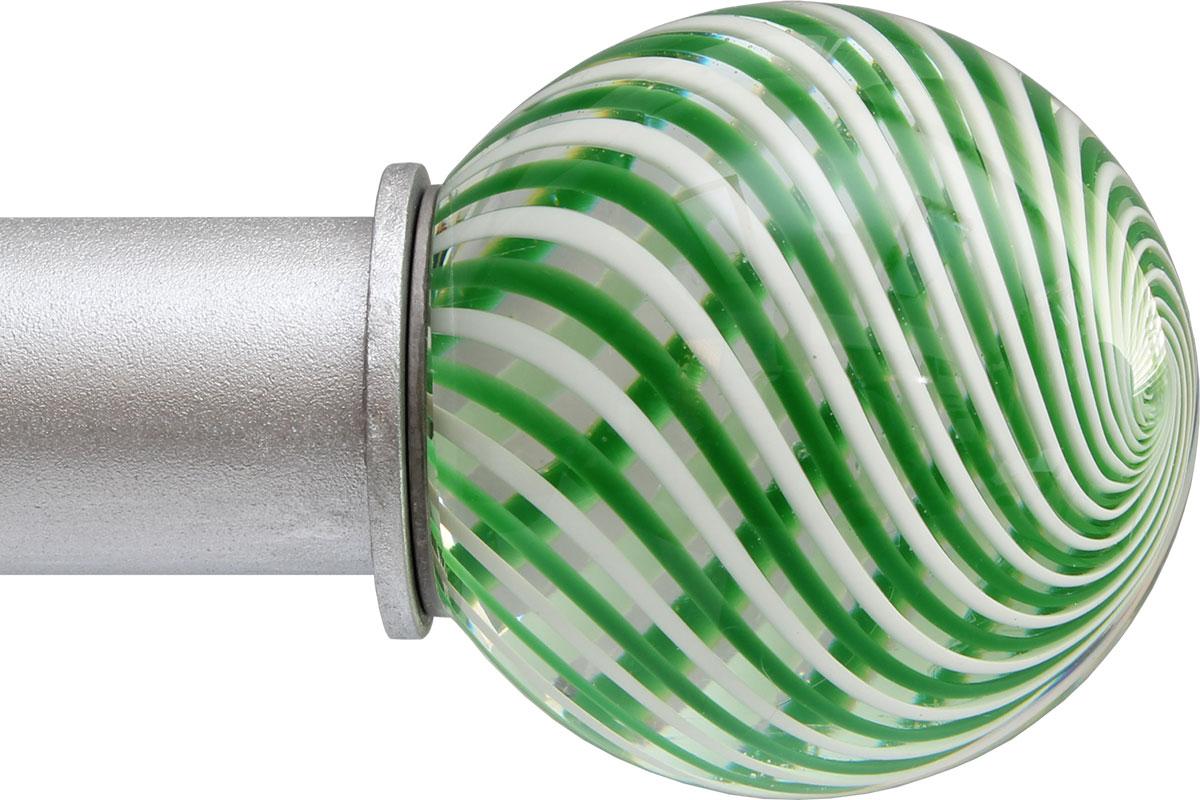 Green Swirl Ball ArtGlass finial