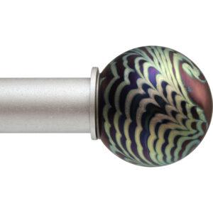 Iridescent Wave Ball ArtGlass finial