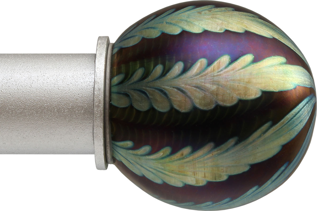 Iridescent Wheat Ball ArtGlass finial