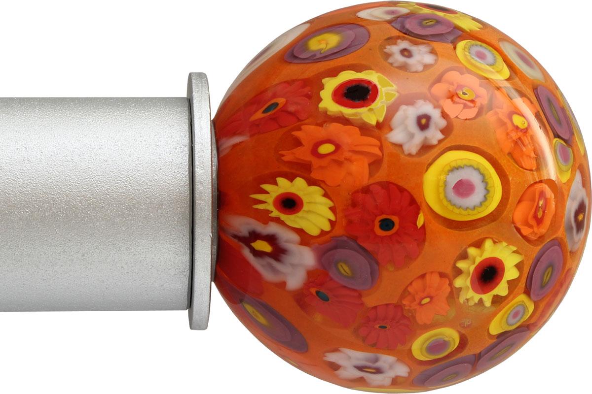 Millefiori Orange Ball ArtGlass finial