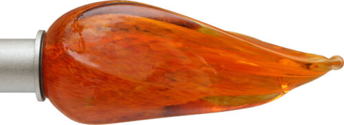 Orange Flame ArtGlass finial