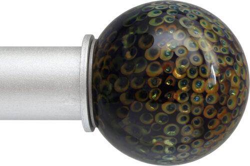 Peacock Ball ArtGlass finial