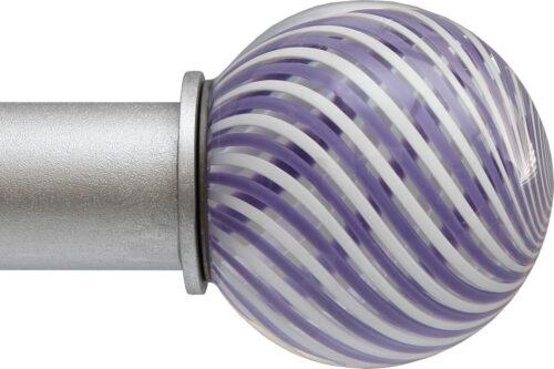 Violet Swirl Ball ArtGlass finial