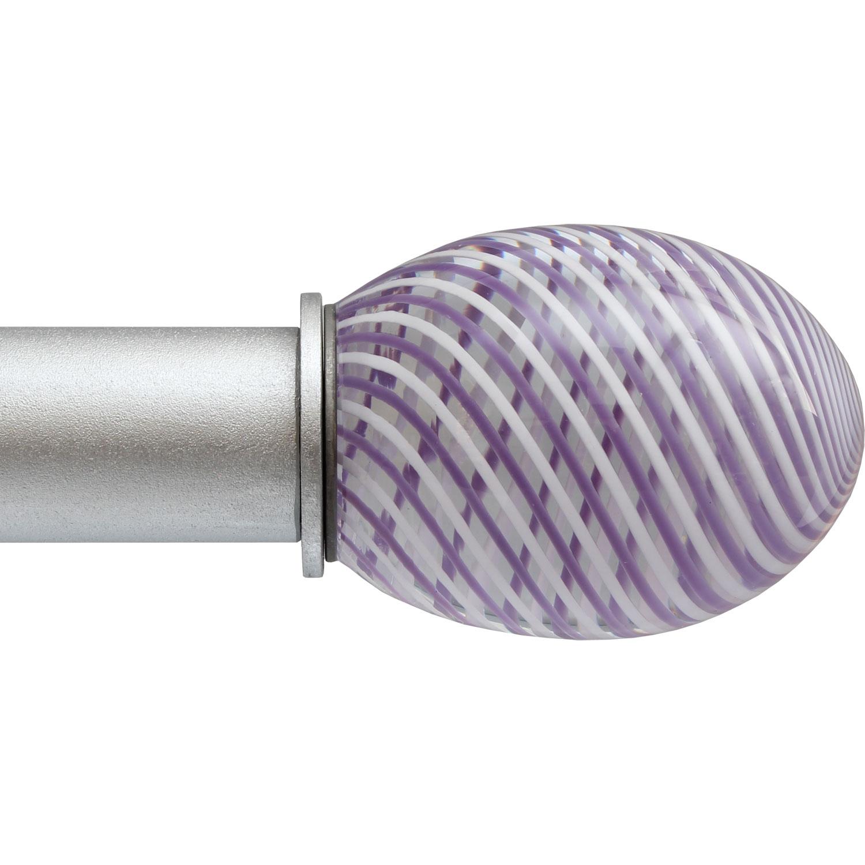 Violet Swirl Egg ArtGlass finial
