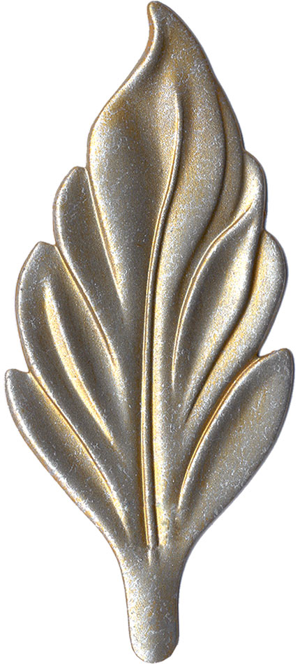 Gilded Silver finish chip