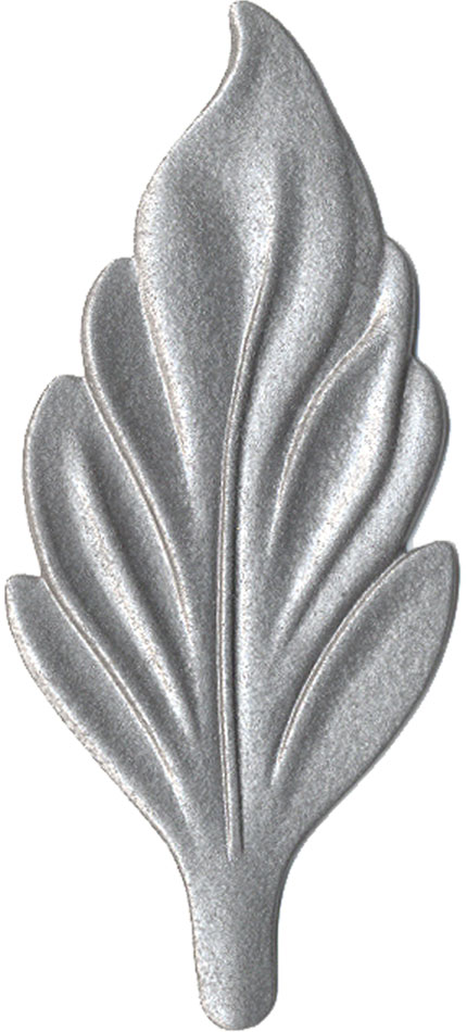 Hammered Silver finish chip
