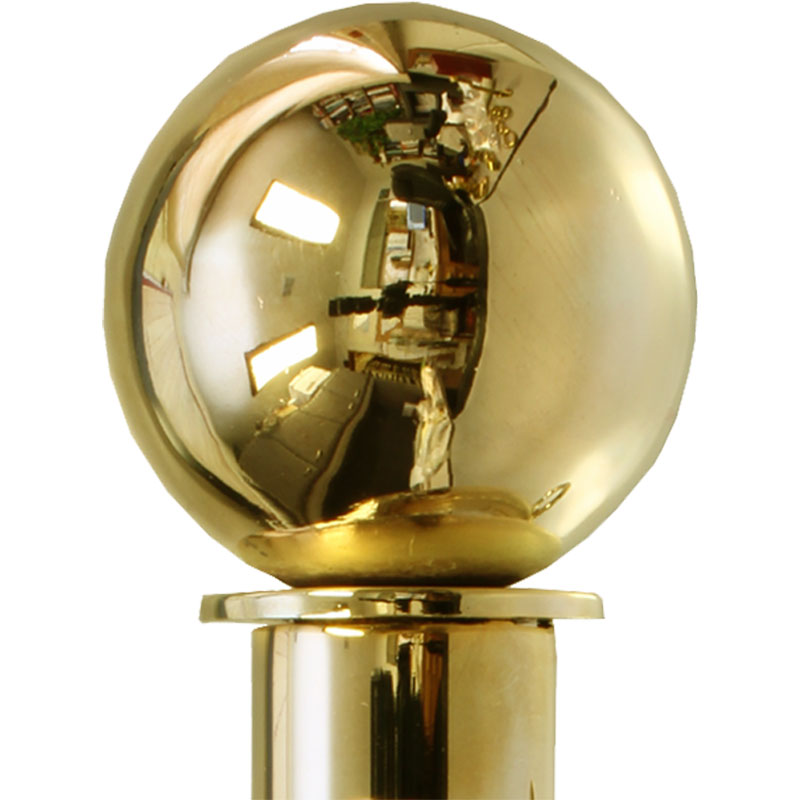 Polished Brass finish on Ball finial