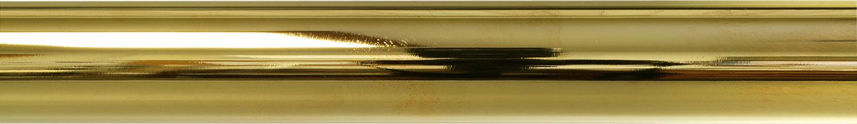 Polished Brass finish on rod