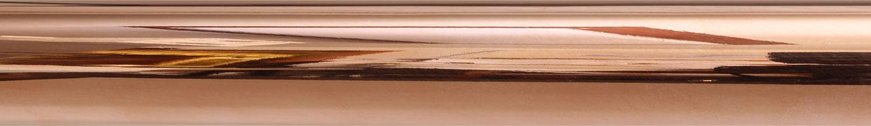 Polished Copper finish on rod