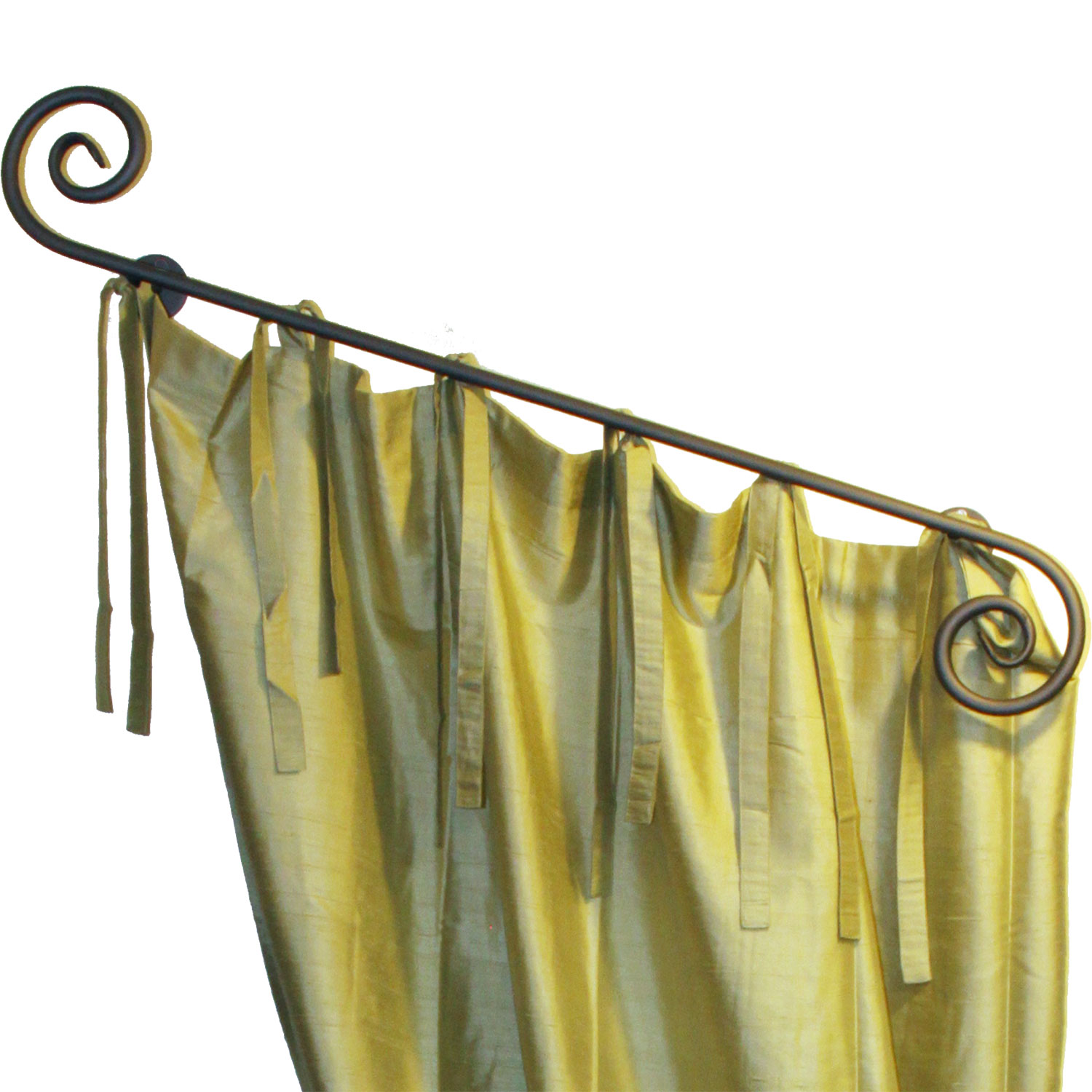 Scroll Rod With Pegs Ona Drapery Hardware