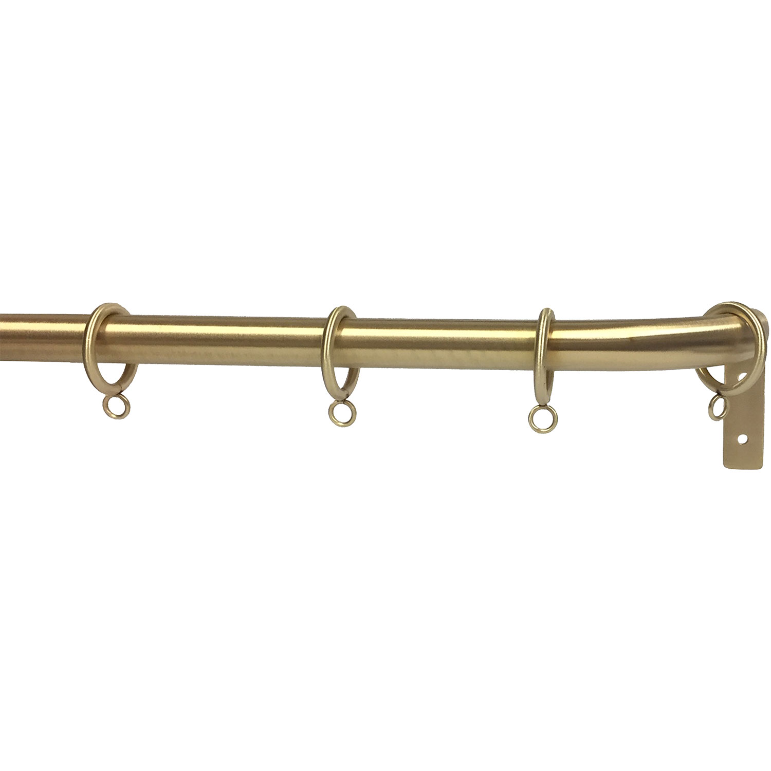 "Matte Brass finish on 1"" rod with French Return"