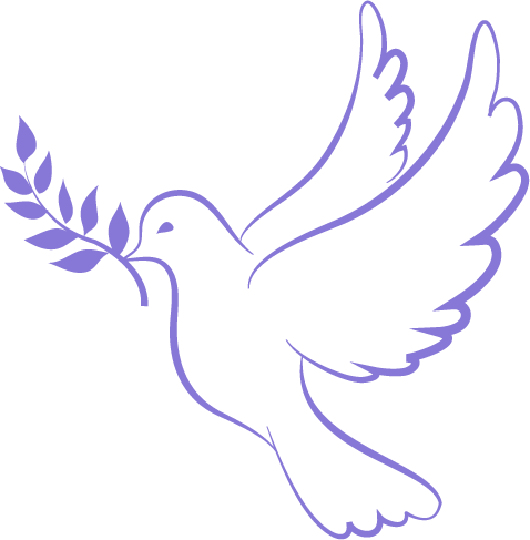 dove of peace in purple