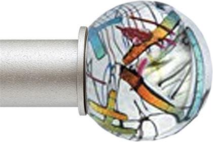 Abstract Ball ArtGlass finial