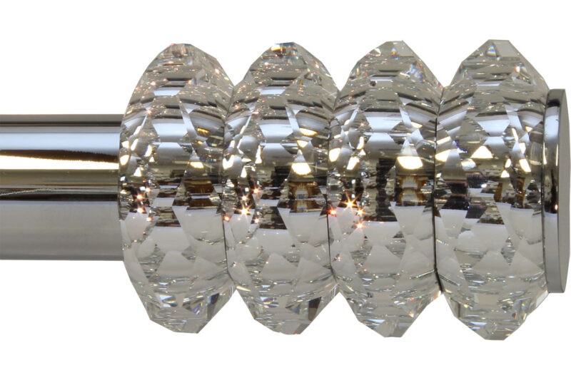 "Crystal Cylinder finial on 1"" rod"