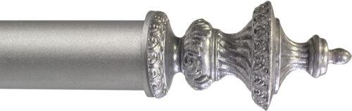 Roulette finial in Brite Silver