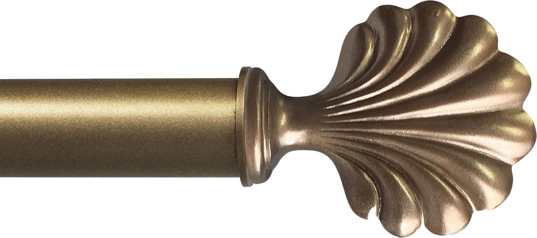 Seaside finial in Antique Brass